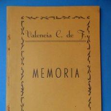Coleccionismo deportivo: VALENCIA CLUB DE FUTBOL - MEMORIA - TEMPORADA 1954-55. Lote 133960214