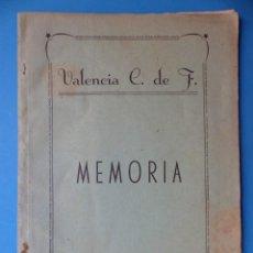 Coleccionismo deportivo: VALENCIA CLUB DE FUTBOL - MEMORIA - TEMPORADA 1955-56. Lote 133960306