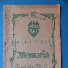 Coleccionismo deportivo: VALENCIA CLUB DE FUTBOL - MEMORIA - TEMPORADA 1956-57. Lote 133960394