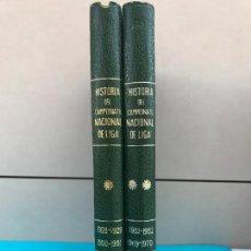 Coleccionismo deportivo: HISTORIA CAMPEONATO NACIONAL DE LIGA. 1928-1970. DOS TOMOS. EFSA. COMPLETA. Lote 134057138