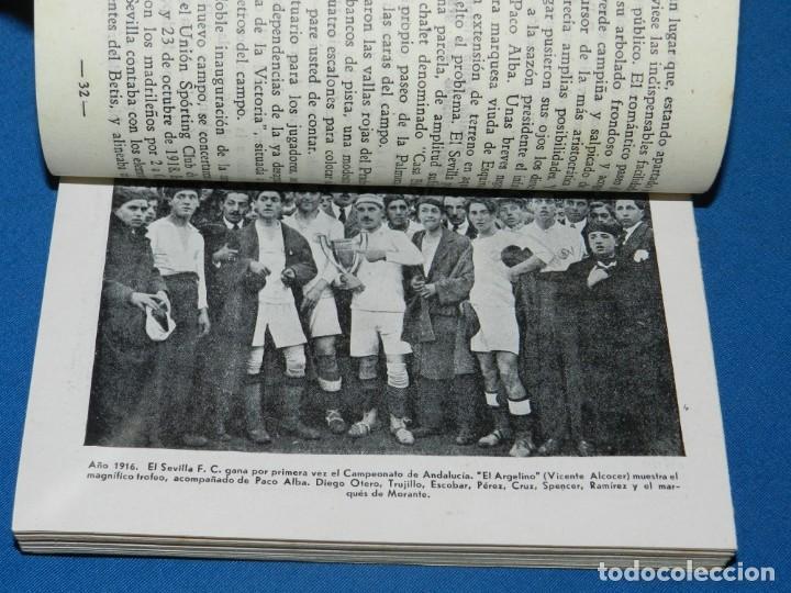 Coleccionismo deportivo: HISTORIAL DEL SEVILLA CF POR ARTURO OTERO, EDC ALONSO, MADRID 1941 , 35 AÑOS DE VIDA DEPORTIVA. - Foto 3 - 135134946