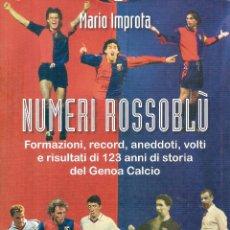 Coleccionismo deportivo: HISTORIA ESTADÍSTICA DEL GENOA (ITALIA) . Lote 135276210