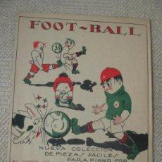Coleccionismo deportivo: FOOT-BALL, PASODOBLE Y JOTA POR CH. SCHUMANN PARTITURA DE 1923 BELLA CUBIERTA ILUSTRADA TEMA FÚTBOL. Lote 135437926