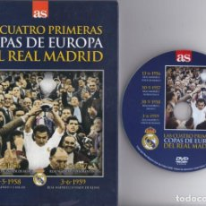 Coleccionismo deportivo: DVD FÚTBOL-LAS 4 PRIMERAS COPAS DE EUROPA DEL REAL MADRID- LIBRO + DVD (FUTBOL-FOOTBALL). Lote 135441686
