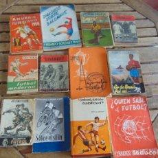 Coleccionismo deportivo: LOTE DE 12 LIBROS DE FUTBOL Y ALGUN OTRO DEPORTE DE EPOCA. Lote 135664887