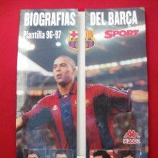 Coleccionismo deportivo: BIOGRAFÍAS DE LA PLANTILLA DEL BARELONA 96-97. Lote 135798742
