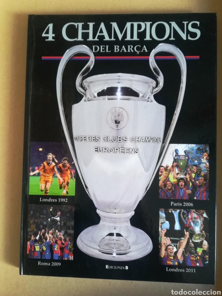4 CHAMPIONS DEL BARÇA (Coleccionismo Deportivo - Libros de Fútbol)