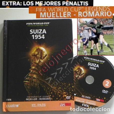 LIBRO DVD SUIZA 1954 FIFA WORLD CUP (ESPAÑOL) ROMARIO MUELLER MUNDIAL DE FÚTBOL MEJ PENALTIS DEPORTE (Coleccionismo Deportivo - Libros de Fútbol)