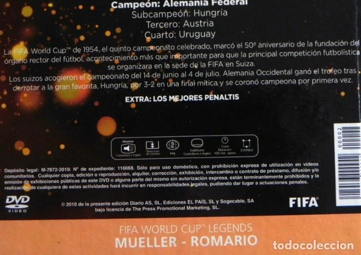 Coleccionismo deportivo: LIBRO DVD SUIZA 1954 FIFA WORLD CUP (ESPAÑOL) ROMARIO MUELLER MUNDIAL DE FÚTBOL MEJ PENALTIS DEPORTE - Foto 2 - 138796142
