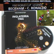 Coleccionismo deportivo: LIBRO Y DVD INGLATERRA 1966 FIFA WORLD CUP (ESPAÑOL) CR RONALDO BECKHAM MUNDIAL DE FÚTBOL DEPORTE AS. Lote 138982946