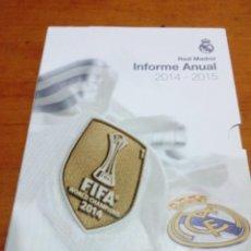 Coleccionismo deportivo: CARPETA CON TRES LIBROS. REAL MADRID. INFORME ANUAL. 2014 2015. EST20B2. Lote 139569350