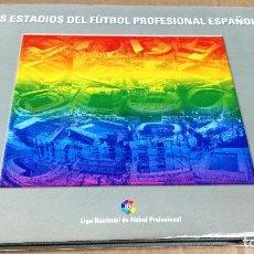 Coleccionismo deportivo: LOS ESTADIOS DEL FÚTBOL PROFESIONAL ESPAÑOL, LIGA NACIONAL DE FÚTBOL PROFESIONAL, ASTURIAS, 2000,. Lote 141125962