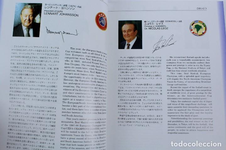 Coleccionismo deportivo: PO-28.PROGRAMA OFICIAL FINAL TOYOTA CUP, 1 DICIEMBRE 1998 REAL MADRID 2-1 VASCO DA GAMA. EN JAPONÉS - Foto 4 - 141575042