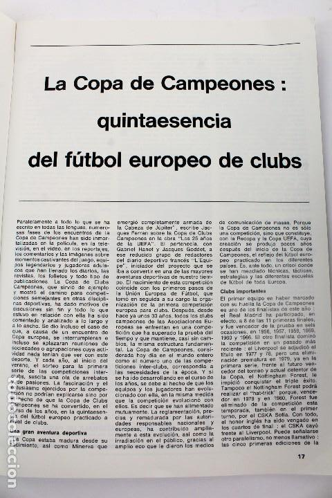 Coleccionismo deportivo: PO-27.PROGRAMA OFICIAL FINAL COPA DE EUROPA DE CLUBS 27 DE MAYO 1981. REAL MADRID . LIVERPOOL F.C. - Foto 5 - 141576114