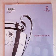 Coleccionismo deportivo: FC BARCELONA PROGRAMA OFICIAL ORIGINAL FINAL ROMA ROME 2009 FIRMADO JUGADORES. Lote 142052934