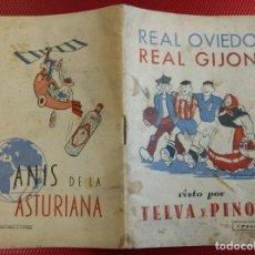Coleccionismo deportivo: REAL OVIEDO -REAL GIJON VISTOS POR TELVA Y PINON PEQUEÑA JOYA DE 32PAGS-1945-ALFONSO Y MAS COSAS. Lote 142387782