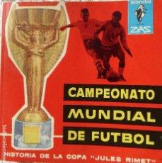 Coleccionismo deportivo: FUT-16. HISTORIA DE LA COPA JULES RIMERT. SALVADOR ESCODA. EDITORIAL BRUGUERA . 1ª EDICION 1962. Lote 143278094
