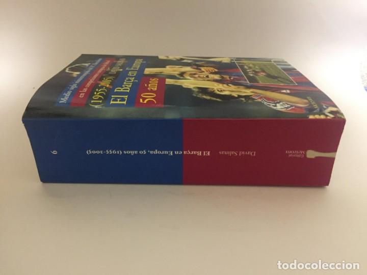 Coleccionismo deportivo: LIBRO EL BARÇA EN EUROPA, 50 AÑOS(1955-2005) EDITORIAL METEOR - DAVID SALINAS PRIMERA EDICION 2005 - Foto 2 - 143345302