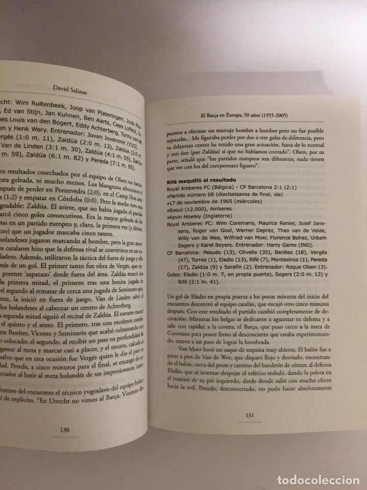 Coleccionismo deportivo: LIBRO EL BARÇA EN EUROPA, 50 AÑOS(1955-2005) EDITORIAL METEOR - DAVID SALINAS PRIMERA EDICION 2005 - Foto 3 - 143345302