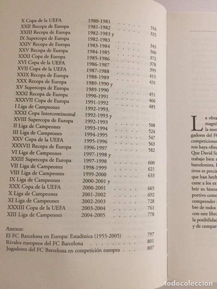 Coleccionismo deportivo: LIBRO EL BARÇA EN EUROPA, 50 AÑOS(1955-2005) EDITORIAL METEOR - DAVID SALINAS PRIMERA EDICION 2005 - Foto 4 - 143345302
