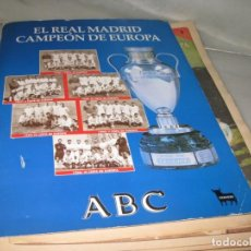 Coleccionismo deportivo: EL REAL MDRID CAMPEON DE EUROPA. FALTA EL 2 Y EL 14. 35 FASCICULOS.. Lote 144505538