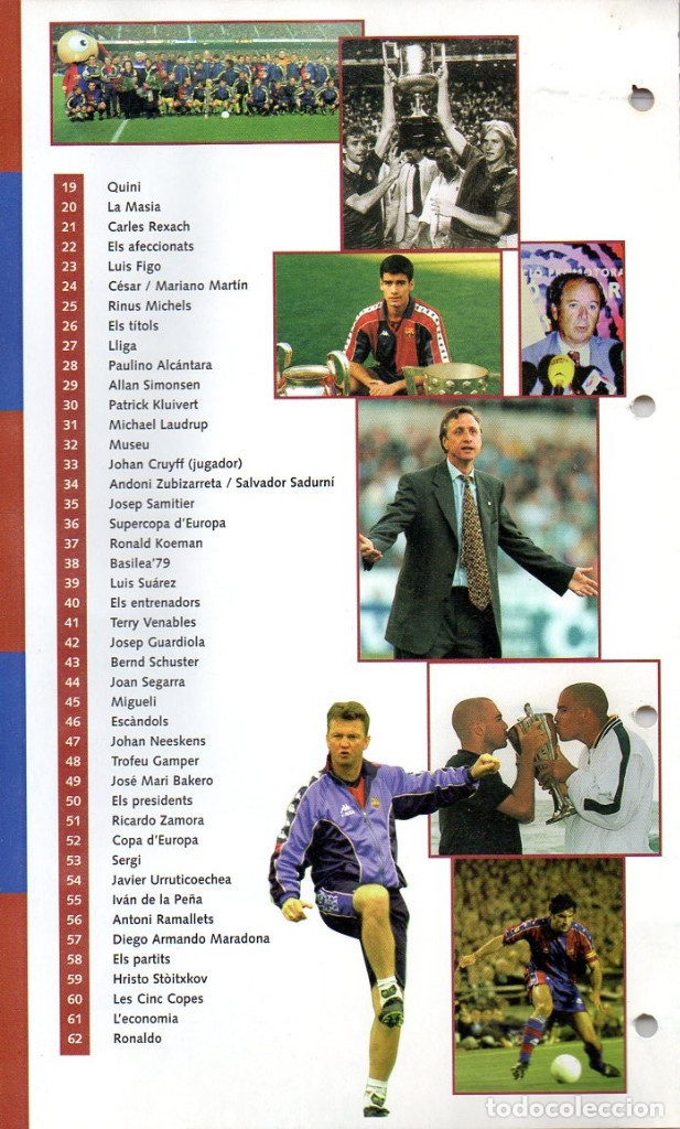 Coleccionismo deportivo: ALBUM BARÇA 100 UN SEGLE DE LA A Z DIARIO LA VANGUARDIA 1999 CARPETA DE FICHAS BARCELONA FUTBOL CLUB - Foto 3 - 48651236