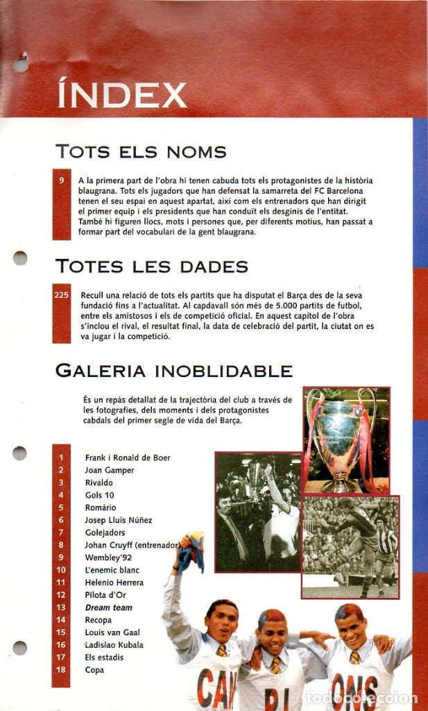 Coleccionismo deportivo: ALBUM BARÇA 100 UN SEGLE DE LA A Z DIARIO LA VANGUARDIA 1999 CARPETA DE FICHAS BARCELONA FUTBOL CLUB - Foto 2 - 48651236
