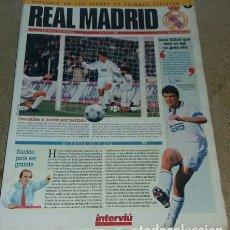 Coleccionismo deportivo: HISTORIA DE LOS CLUBES DE PRIMERA DIVISIÓN TEMPORADA 94-95. INTERVIÚ FASICULO NUM 1 REAL MADRID. Lote 278448938