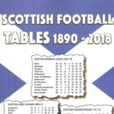 Coleccionismo deportivo: SCOTTISH FOOTBALL TABLES 1890-2018. Lote 147034214