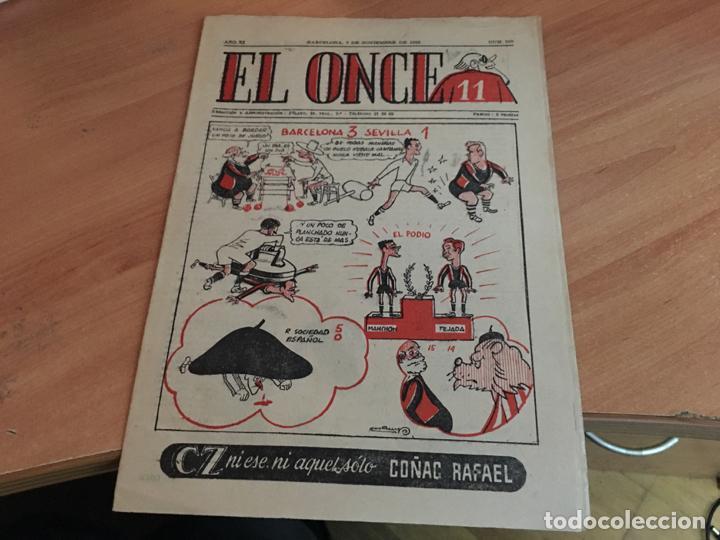 EL ONCE Nº 565 7 NOVIEMBRE 1955 (COIM18) (Coleccionismo Deportivo - Libros de Fútbol)