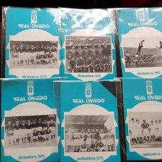 Coleccionismo deportivo: NUEVOS! LOTE 6 BOLETINES/ BOLETÍN REAL OVIEDO 1975 ORIGINAL NUEVOS FÚTBOL. Lote 147460950