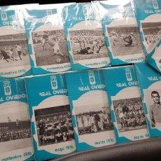 Coleccionismo deportivo: NUEVOS! GRAN LOTE 16 BOLETINES/ BOLETÍN REAL OVIEDO 1976 ORIGINAL NUEVOS FÚTBOL. Lote 147463610