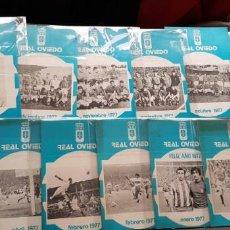 Coleccionismo deportivo: NUEVOS! GRAN LOTE 13 BOLETINES/ BOLETÍN REAL OVIEDO 1977 ORIGINAL FÚTBOL. Lote 147464894
