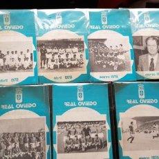 Coleccionismo deportivo: NUEVOS! LOTE 7 BOLETINES/ BOLETÍN REAL OVIEDO 1978 ORIGINAL NUEVOS FÚTBOL. Lote 147465886