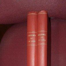 Coleccionismo deportivo: HISTORIA CAMPEONATO NACIONAL DE LIGA (LOS 2 TOMOS INCLUYENDO PORTADAS Y CONTRAS). Lote 147539550