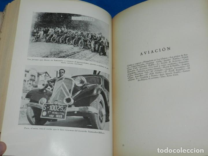 Coleccionismo deportivo: (M2.6) FERMIN SANCHEZ GONZALEZ - ARCHIVO DEPORTIVO DE SANTANDER , 2 TOMOS COMPLETO , SANTANDER 1948 - Foto 2 - 147998734