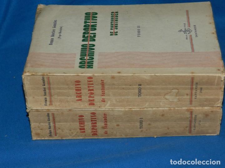 Coleccionismo deportivo: (M2.6) FERMIN SANCHEZ GONZALEZ - ARCHIVO DEPORTIVO DE SANTANDER , 2 TOMOS COMPLETO , SANTANDER 1948 - Foto 6 - 147998734