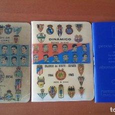 Coleccionismo deportivo: LOTE DE 3 CALENDARIO ANUARIO DINAMICO 1953-1954 1964-1965 Y 1970-1971. Lote 149576506