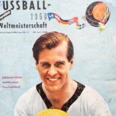 Coleccionismo deportivo: SEHR BAHR. - FUSSBALL WELTMEISTERSCHAFT 1958.#. Lote 150157918