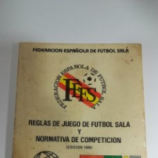 Coleccionismo deportivo: REGLAS DE JUEGO FUTBOL SALA EDICION 1986. Lote 152465904
