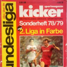 Coleccionismo deportivo: KICKER. - BUNDESLIGA SONDERHEFT 1978/79.. Lote 152835250