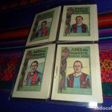 Coleccionismo deportivo: FC BARCELONA ASES DEL DEPORTE BIOGRAFÍAS RÁPIDAS 1 MARTÍN, 4 ESCOLÁ, 8 CÉSAR Y 9 BASILIO. AÑOS 40 BE. Lote 153652834