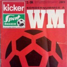 Coleccionismo deportivo: KICKER. - WM MEXICO 70 -#. Lote 154194234