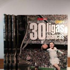 Coleccionismo deportivo: 30 LIGAS BLANCAS. 4 TOMOS: COMPLETO. JAVIER MOÑINO / LÓPEZ-GÓMEZ, DIARIO AS 2007.. Lote 155327902