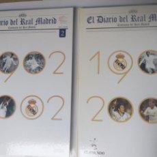 Coleccionismo deportivo: FÚTBOL . EL DIARIO DEL REAL MADRID CENTENARIO DEL REAL MADRID 2 TOMOS EL MUNDO. Lote 155657000