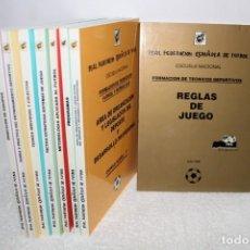 Coleccionismo deportivo: CURSO INSTRUCTOR DE FUTBOL BASE, TECNICO DEPORTIVO ELEMENTAL - FEDERACION ESPAÑOLA DE FUTBOL. Lote 155692082