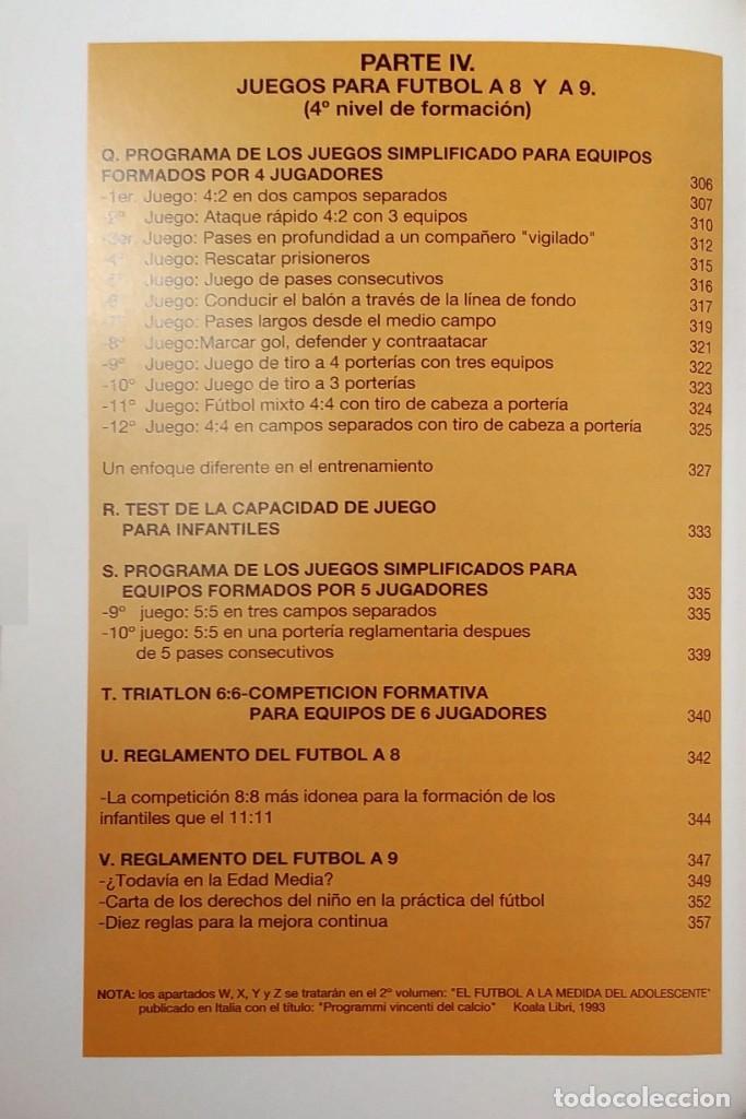 Coleccionismo deportivo: FÚTBOL A LA MEDIDA DEL NIÑO / HORST WEIN ; JAVIER CLEMENTE. REAL FEDERACIÓN ESPAÑOLA DE FÚTBOL, 1995 - Foto 7 - 156033186