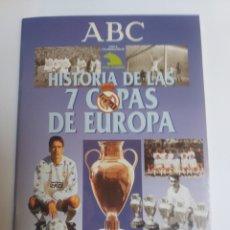 Coleccionismo deportivo: FÚTBOL . HISTORIAS DE LAS 7 COPAS DE EUROPA REAL MADRID ABC . ÁLBUM CON CROMOS. Lote 156202094