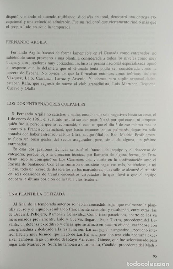 Coleccionismo deportivo: PASO A PASO ROJIBLANCO : GRANADA CF, 75 AÑOS DE HISTORIA / ANTONIO PRIETO CASTILLO. CON DEDICATORIA - Foto 2 - 156468810