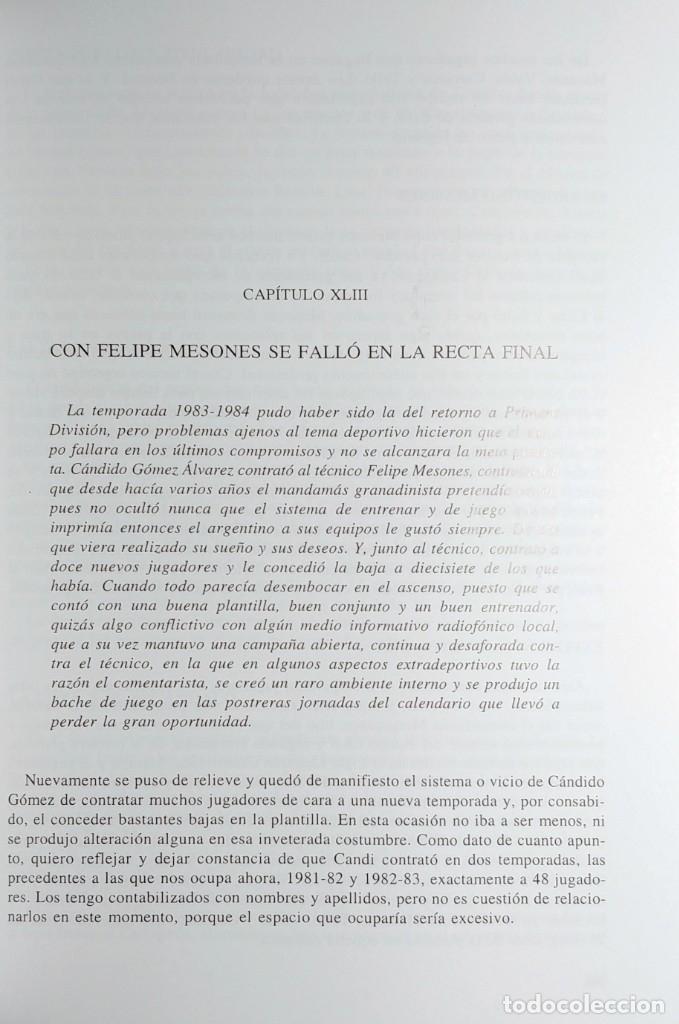 Coleccionismo deportivo: PASO A PASO ROJIBLANCO : GRANADA CF, 75 AÑOS DE HISTORIA / ANTONIO PRIETO CASTILLO. CON DEDICATORIA - Foto 3 - 156468810